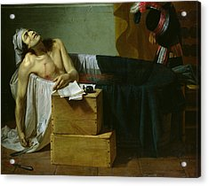 The Death Of Marat Acrylic Print by Joseph Roques