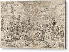 The Death Of Marcus Atilius Regulus Acrylic Print