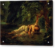 The Death Of Ophelia, 1844 Acrylic Print by Ferdinand Victor Eugene Delacroix