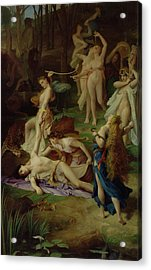 The Death Of Orpheus Acrylic Print by Emile Levy