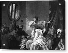 The Death Of Socrates Acrylic Print by Jacques Philippe Joseph de Saint-Quentin