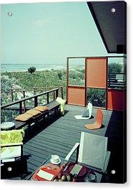 The Deck Of A Beach House Acrylic Print
