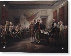 The Declaration Of Independence, July 4, 1776 Acrylic Print by John Trumbull