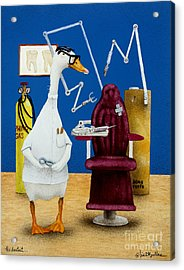 The Dentist... Acrylic Print by Will Bullas