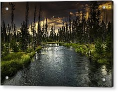The Deschutes River Acrylic Print by Jean-Jacques Thebault