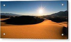 Acrylic Print featuring the photograph The Desert Sun by Dan Mihai