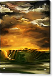 Acrylic Print featuring the painting The Desertland by Persephone Artworks