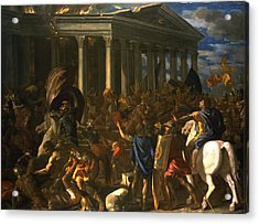 The Destruction And The Sack Acrylic Print by Nicolas Poussin