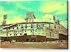 The Detroit Tigers Briggs Stadium In The 1950s Acrylic Print