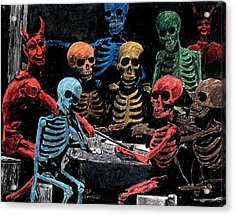 The Devil And Friends Acrylic Print by Jeremy Moore