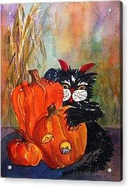 The Devil Made Me Do It Acrylic Print by Ellen Levinson