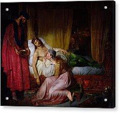 The Devotion Of Princess Sybille, 1832 Oil On Canvas Acrylic Print