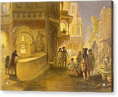 The Dewali Or Festival Of Lamps Acrylic Print by William 'Crimea' Simpson