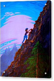 Acrylic Print featuring the painting The Difficult And The Steep by Matt Konar