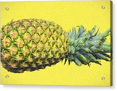 The Digitally Painted Pineapple Sideways Acrylic Print