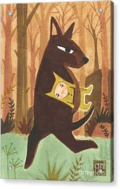 The Dingo Stole My Baby Acrylic Print by Kate Cosgrove
