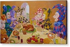 The Dinner Party Acrylic Print by Leonard Filgate