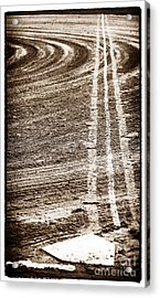 The Dirt Field Acrylic Print by John Rizzuto