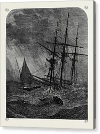 The Disaster In The Channel Cutters Boat Taking Survivors Acrylic Print