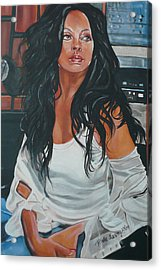 The Diva Acrylic Print by Belle Massey