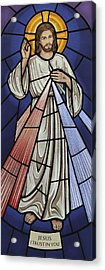 The Divine Mercy Acrylic Print by Gilroy Stained Glass