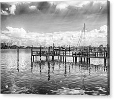 Acrylic Print featuring the photograph The Dock by Howard Salmon