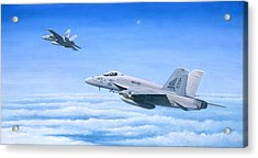 The Dogs Of War Acrylic Print by Pete Wenman