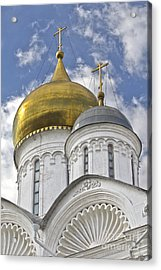 The Domes Of Archangel Cathedral Acrylic Print by Elena Nosyreva