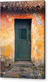 Acrylic Print featuring the photograph The Door by Bernardo Galmarini