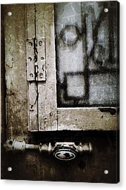 The Door Of Belcourt Acrylic Print by Natasha Marco