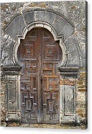 The Door Of Espada Mission  Acrylic Print