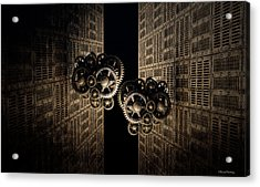 The Door Of The Time Acrylic Print by Ramon Martinez