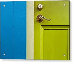 The Door Acrylic Print by Stellina Giannitsi