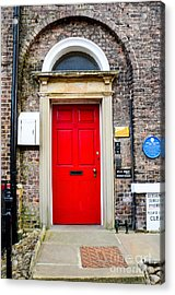 The Door To James Herriot's World Acrylic Print by Mary Carol Story