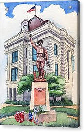 Acrylic Print featuring the painting The Doughboy Statue by Katherine Miller