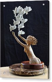 The Dove Maiden Acrylic Print by Dan Redmon