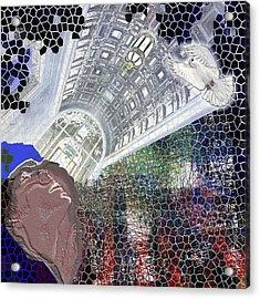 The Dove Acrylic Print by Maria Jesus Hernandez