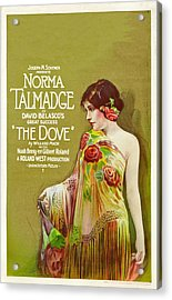 The Dove, Norma Talmadge On Window Acrylic Print by Everett