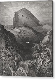 The Dove Sent Forth From The Ark, Genesis 138-9, Illustration From Dores The Holy Bible, 1866 Acrylic Print