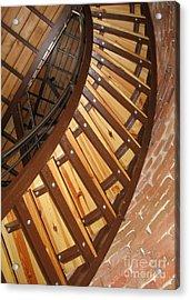 The Downside Of Spiral Stairs Acrylic Print by Ausra Huntington nee Paulauskaite