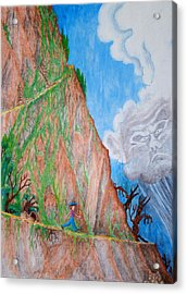 Acrylic Print featuring the painting The Downward Path by Matt Konar