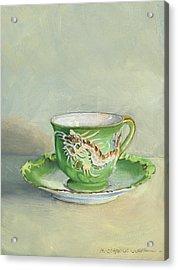 The Dragon Teacup Acrylic Print