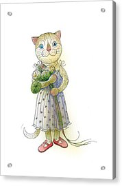 The Dream Cat 01 Acrylic Print by Kestutis Kasparavicius