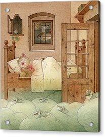 The Dream Cat 10 Acrylic Print by Kestutis Kasparavicius