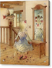 The Dream Cat 11 Acrylic Print by Kestutis Kasparavicius