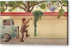 The Dream Cat 15 Acrylic Print by Kestutis Kasparavicius