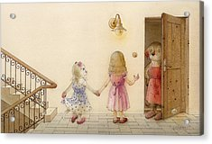 The Dream Cat 18 Acrylic Print by Kestutis Kasparavicius