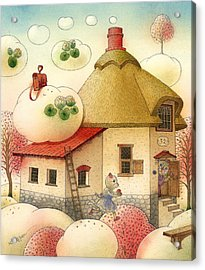 The Dream Cat 28 Acrylic Print by Kestutis Kasparavicius