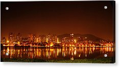 The Dream City - Mumbai Acrylic Print by Money Sharma
