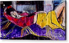 The Dream - Pia #4 - Figure Series Acrylic Print by Mona Edulesco
